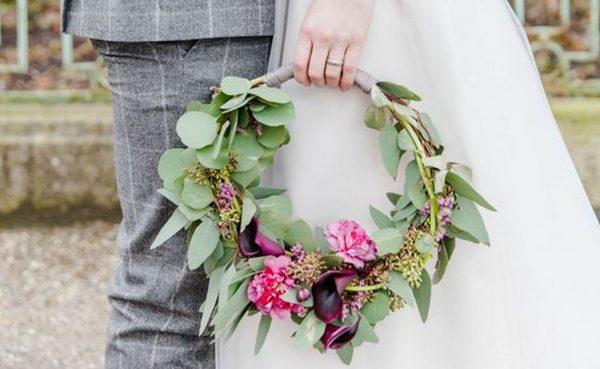 Hoop Bouquet: tendência diferente de buquês para noivas